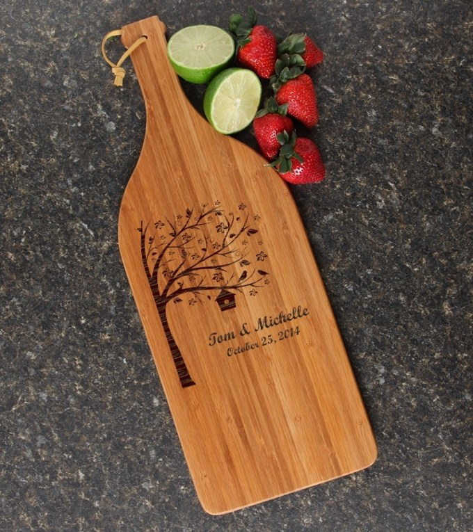 Personalized Cutting Board Engraved Bamboo 16 x 5 DESIGN 27 CBD-027