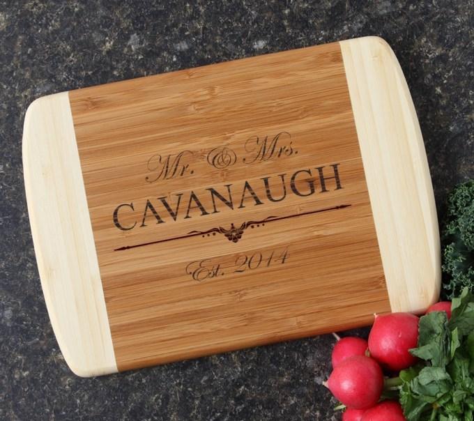 Personalized Cutting Board Custom Engraved 10 x 7 DESIGN 19 CBG-019