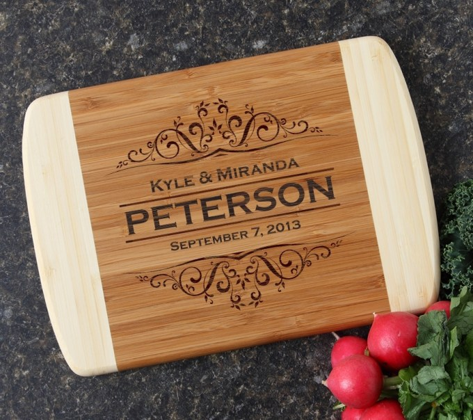 Personalized Cutting Board Custom Engraved 10 x 7 DESIGN 7 CBG-007