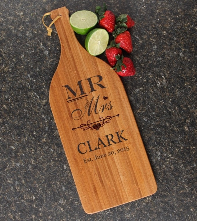 Personalized Cutting Board Engraved Bamboo 16 x 5 DESIGN 21 CBD-021