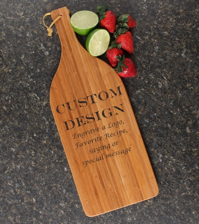 Personalized Cutting Board Engraved Bamboo 16 x 5 DESIGN 13 CBD-013