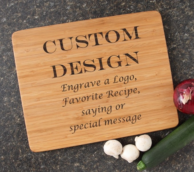Engraved Bamboo Cutting Board Personalized 15x12 DESIGN 13 CBB-013