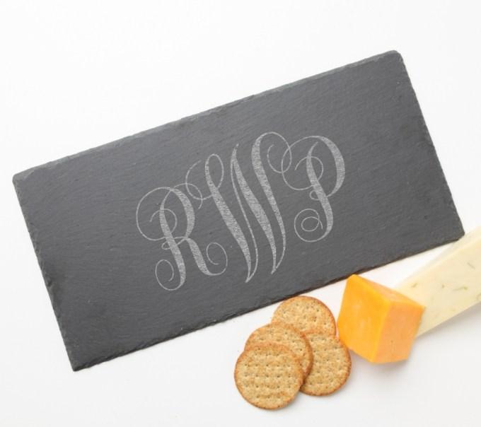 Personalized Slate Cheese Board 15 x 7 DESIGN 1 SCB-001
