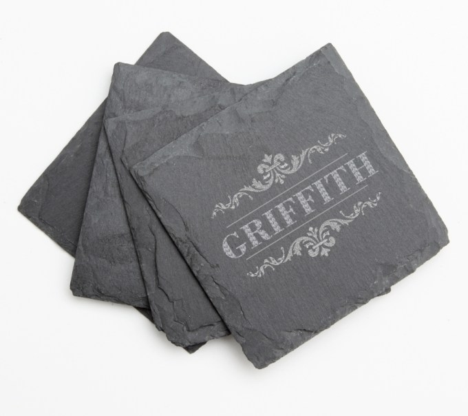 Personalized Slate Coasters Engraved Slate Coaster Set DESIGN 16 SCS-016