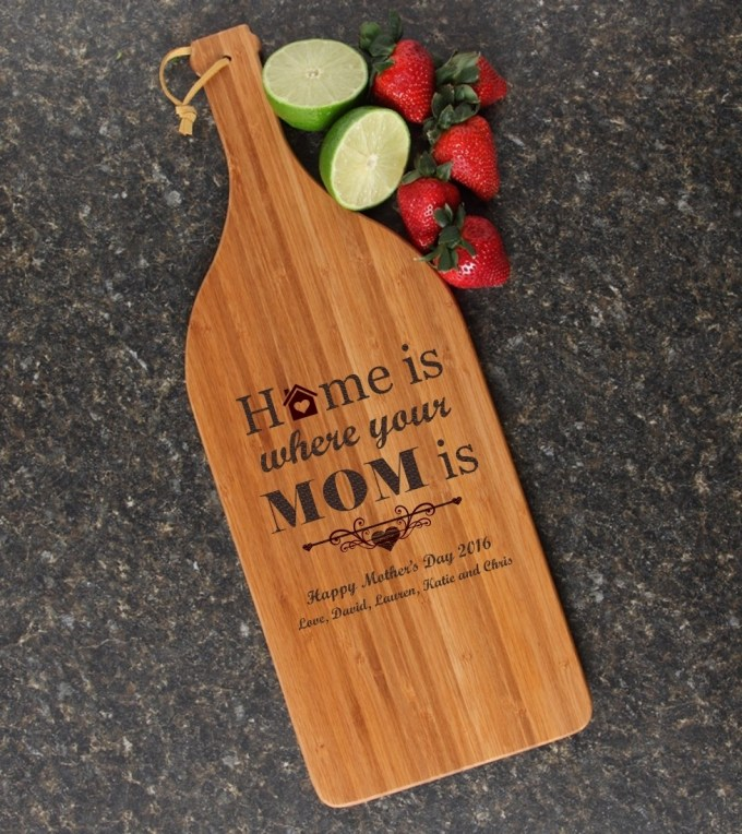 Personalized Cutting Board Engraved Bamboo 16 x 5 DESIGN 42 CBD-042
