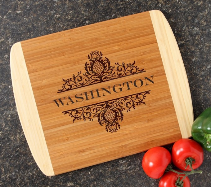 Personalized Cutting Board Custom Engraved 14x11 DESIGN 36 CBC-036