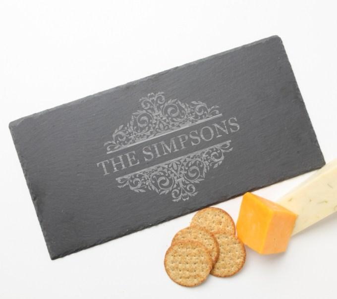 Personalized Slate Cheese Board 15 x 7 DESIGN 39 SCB-039