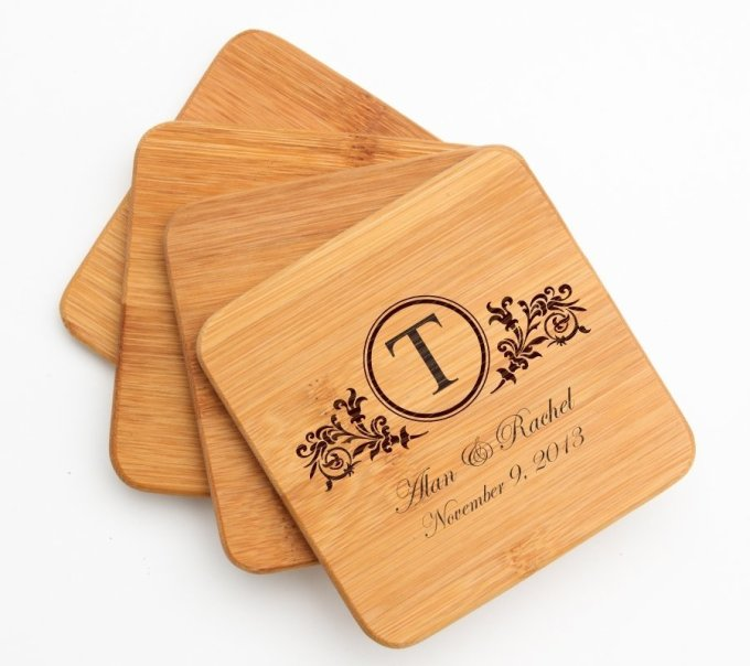 Personalized Bamboo Coasters