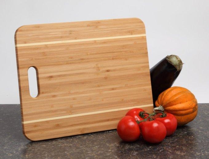 Personalized Cutting Board Custom Engraved Bamboo Cutting Board-15 x 12 Handle