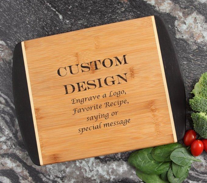 Cutting Board Engraved Personalized Bamboo 12 x 9 DESIGN 13 CBI-013