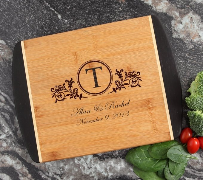 Cutting Board Engraved Personalized Bamboo 12 x 9 DESIGN 15 CBI-015