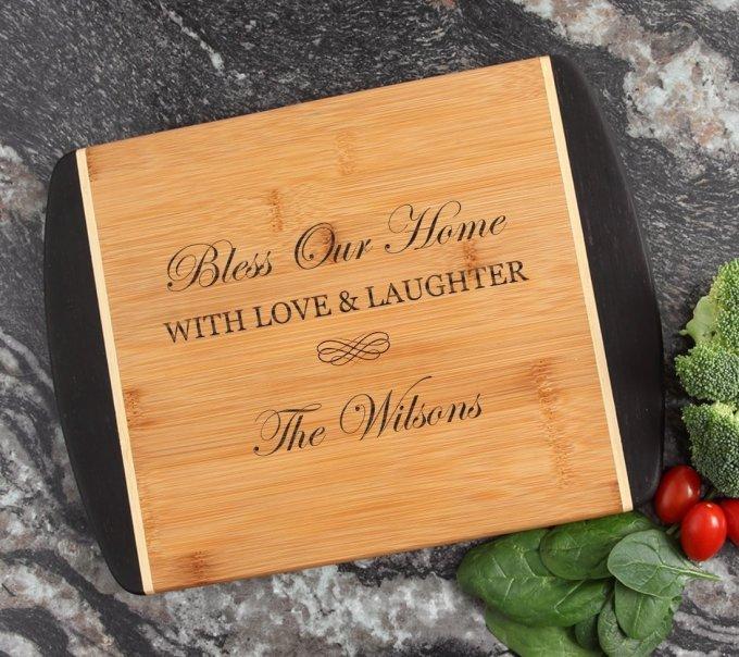 Cutting Board Engraved Personalized Bamboo 12 x 9 DESIGN 22 CBI-022