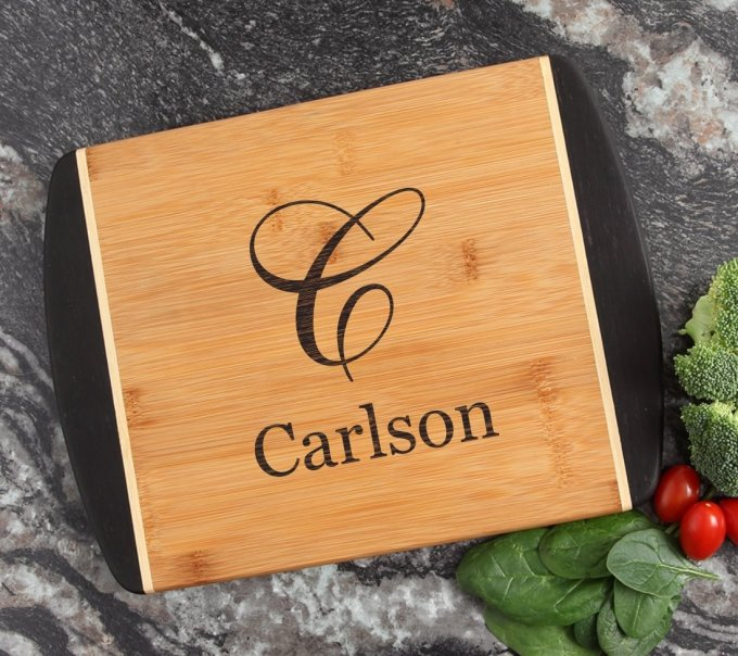 Cutting Board Engraved Personalized Bamboo 12 x 9 DESIGN 3 CBI-003