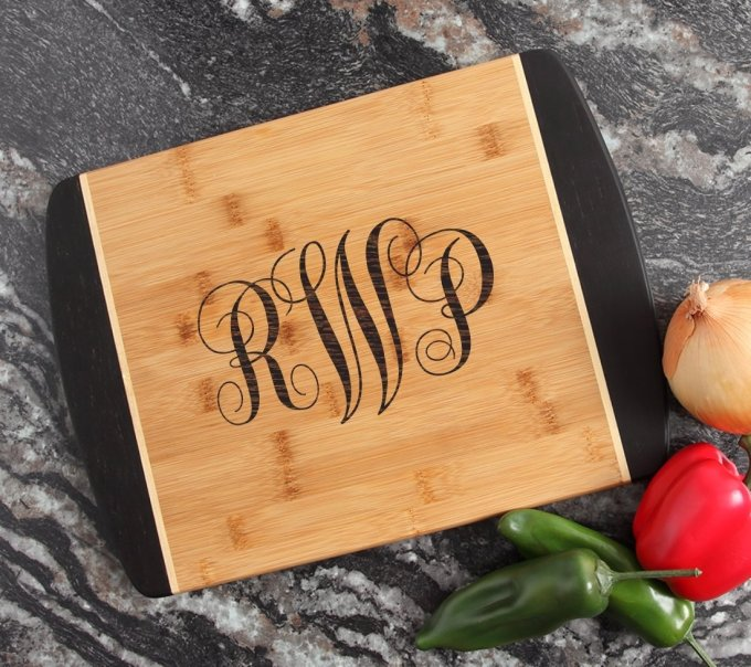 Engraved Cutting Board Personalized Bamboo 15 x 11 DESIGN 1 CBJ-001