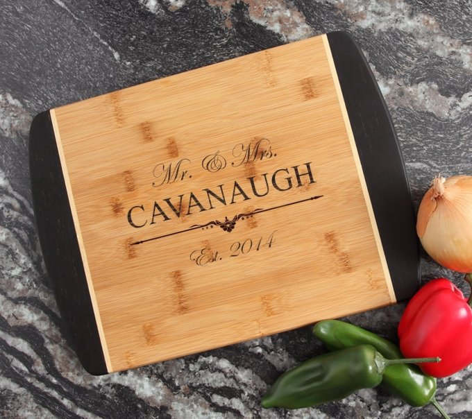 Engraved Cutting Board Personalized Bamboo 15 x 11 DESIGN 19 CBJ-019