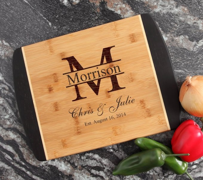 Engraved Cutting Board Personalized Bamboo 15 x 11 DESIGN 24 CBJ-024