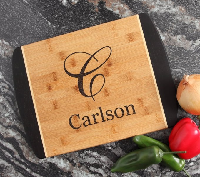 Engraved Cutting Board Personalized Bamboo 15 x 11 DESIGN 3 CBJ-003