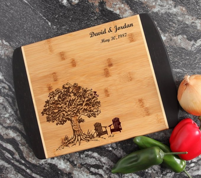 Engraved Cutting Board Personalized Bamboo 15 x 11 DESIGN 31 CBJ-031
