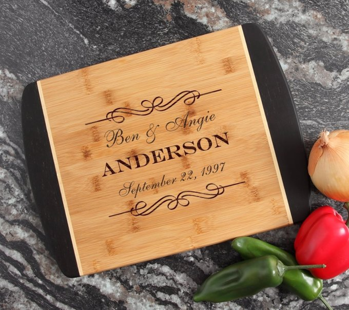 Engraved Cutting Board Personalized Bamboo 15 x 11 DESIGN 9 CBJ-009