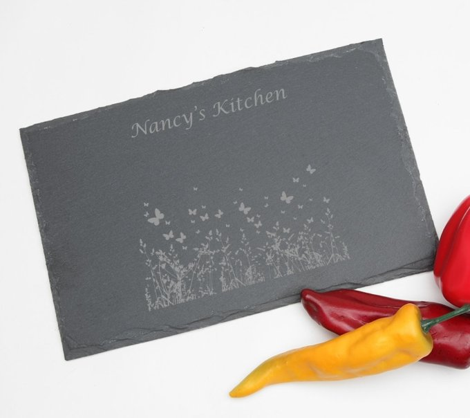 Personalized Slate Cheese Board 11 x 7 DESIGN 30 SCBS-030