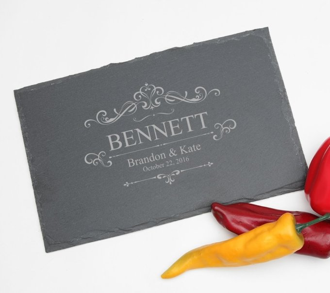 Personalized Slate Cheese Board 11 x 7 DESIGN 35 SCBS-035