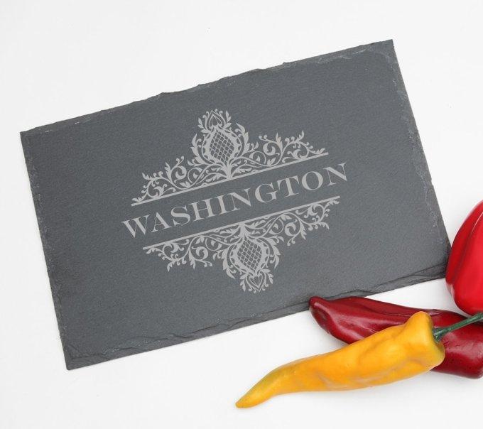Personalized Slate Cheese Board 11 x 7 DESIGN 36 SCBS-036