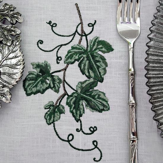 Дизайн машинной вышивки - Виноградные листья RPE-494-2