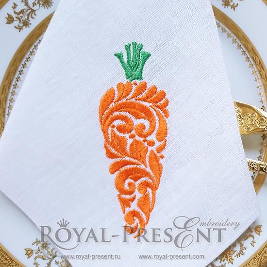 Дизайн машинной вышивки Витиеватая морковь RPE-334