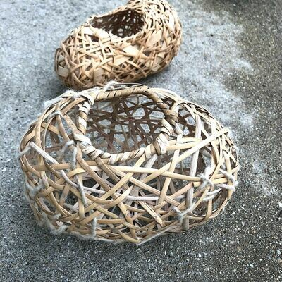 Random Weave Vessel. Saturday, April 4, 2020. 2:30-6:30 PM. Learn how to use random weave technique over a mold you have shaped.
