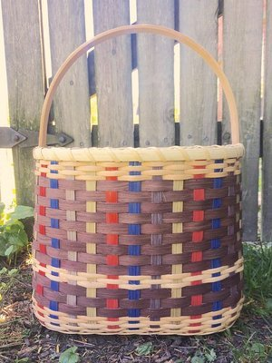 Wood-Bottomed Tote. All levels. Materials included. Created over two Saturdays:  November 2 and 9, 2019, 2:30pm-6:30pm.