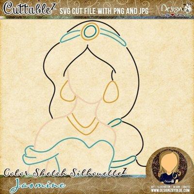 Jasmine | Color Sketch SilhouetteZ