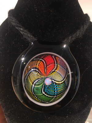Cambria Rainbow Retti Pendant With Opal