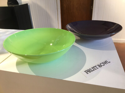 Lime Green Blown Glass Bowl