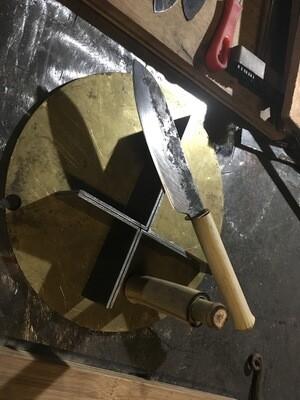 Pattern welded Damascus kitchen knife
