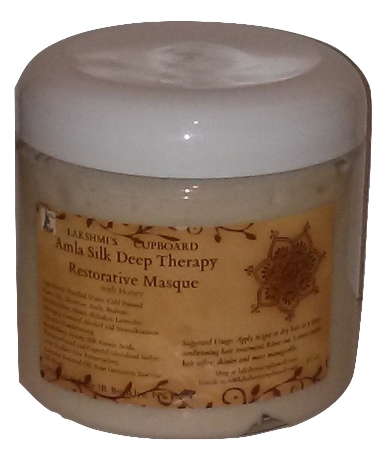 Amla Silk Deep Therapy Restorative Masque 16 oz w/ Bhringraj, Shikakai, Neem, and Honey (Deep Conditioner) 00018