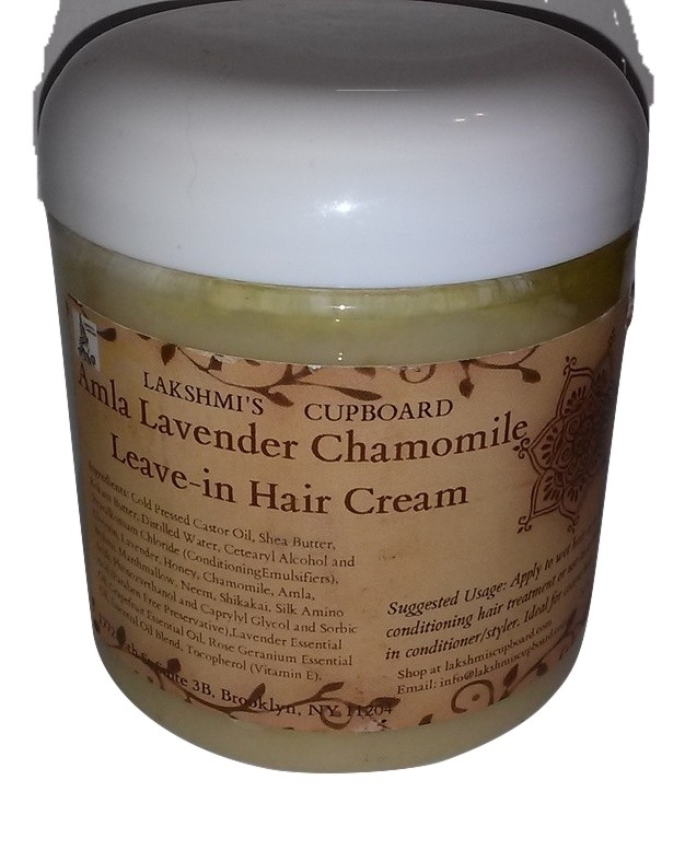 Amla Lavender Chamomile Leave-in Hair Cream 15.7 oz w/Shea Butter, Shikakai, Brahmi, Neem and Honey (Deep Conditioner) 00015
