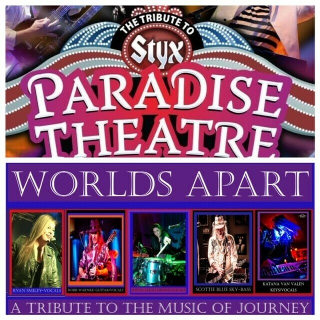 Paradise Theater & Worlds Apart – April 3 2020- 7:30pm