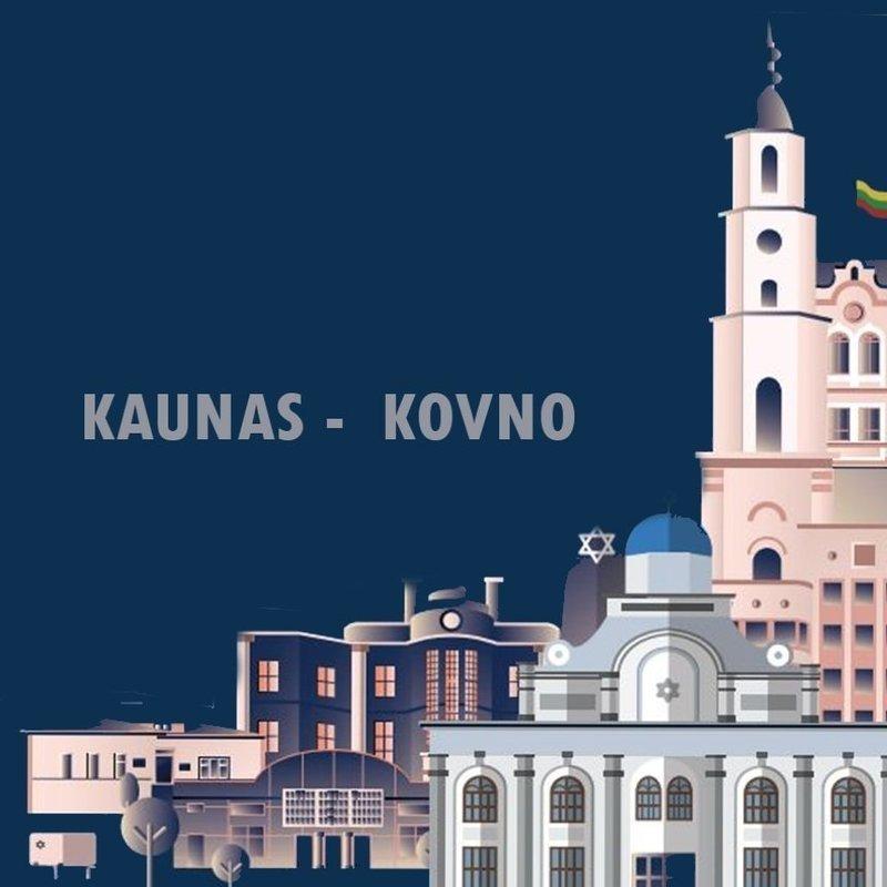 "Kaunas, Lithuania - ""The Litvak Landscape"" Map"