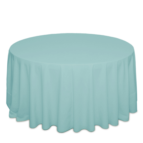 Aqua Tablecloths Aqua Solid Polyester Tablecloth Rental