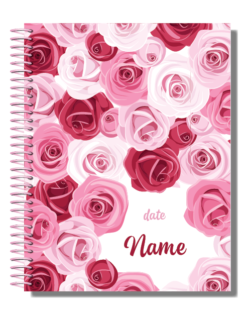 Personalised 2019 Bullet Planner A5 - Roses Are Red 00014
