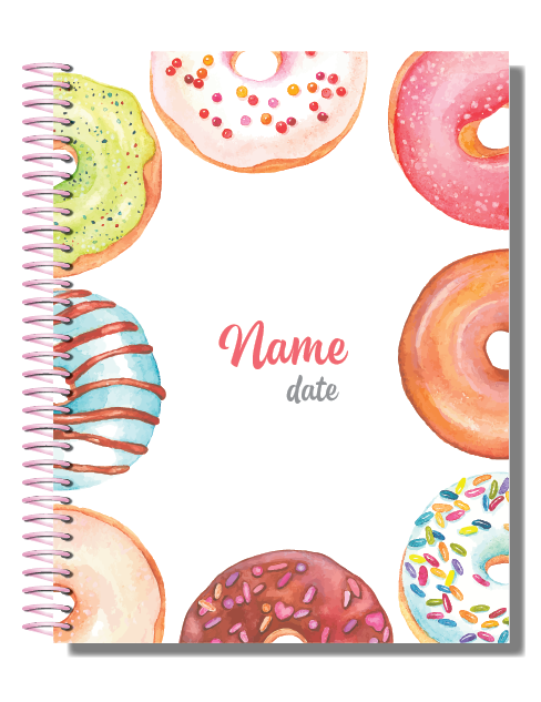 Personalised 2019 Bullet Planner A5 - Treat Yourself 00049