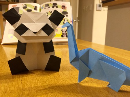 折り紙、パンダ