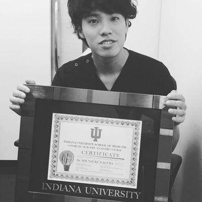 米国で受けたインディアナ大学美容外科コース修了証が送られてきました。