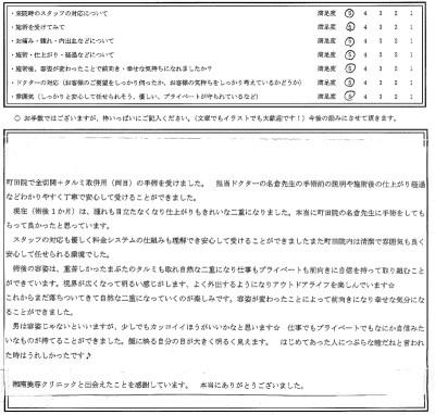 『埋没二重術』湘南美容外科 美容外科医師 名倉俊輔のお客様の声、評判、口コミ