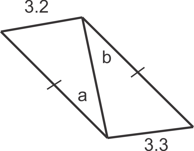 In questions 24 and 25, list the measures of the sides in