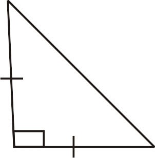 Lengths of Sides in Isosceles Right Triangles ( Read