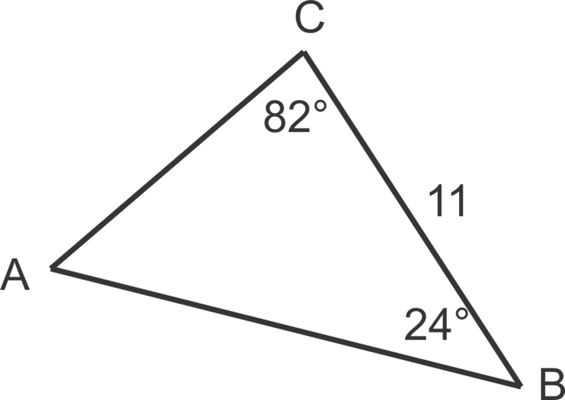 Solve the triangles.