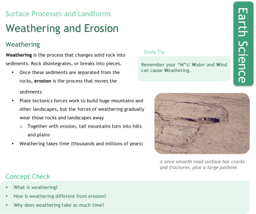 small resolution of Weathering and Erosion   CK-12 Foundation