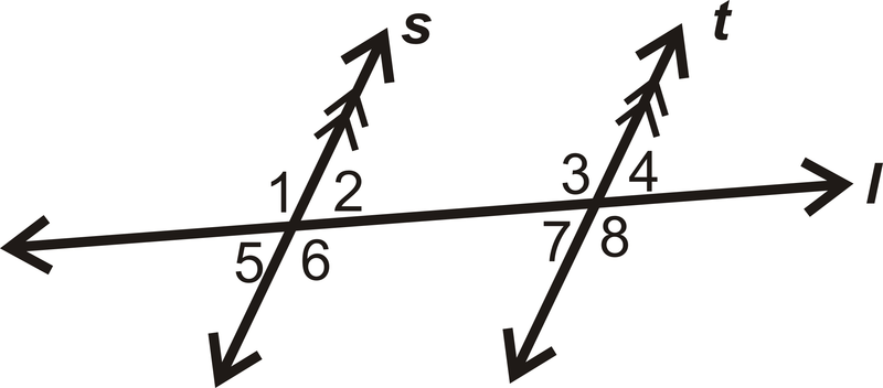 For questions 1-7, determine if each angle pair below is