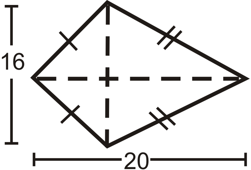 Area and Perimeter of Rhombuses and Kites ( Read